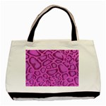 purple python tote - Basic Tote Bag (Two Sides)