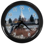 Idaho Falls, Idaho LDS Temple - Wall Clock (Black)