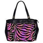 Psychadelic Zebra oversize bag - Oversize Office Handbag (Two Sides)