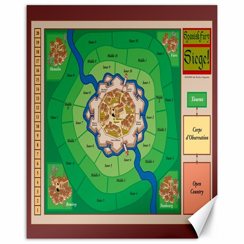 Spanish Fury Canvas Map By Aron Clark   Canvas 16  X 20    Dspuu6pcua84   Www Artscow Com 20 x16 Canvas - 1