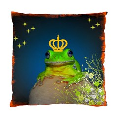 Mandy s Frog Pillow By Lori Enyart   Standard Cushion Case (two Sides)   Ame7q6j3wckl   Www Artscow Com Front