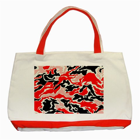 Red  Camo Tote By Catvinnat   Classic Tote Bag (red)   S6wdqovehroj   Www Artscow Com Front