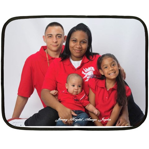 Family  By Krystal M    Fleece Blanket (mini)   M57aia17wiex   Www Artscow Com 35 x27 Blanket