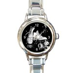 ROLLER SKATE QUAD SKATING ROUND ITALIAN CHARM WATCH