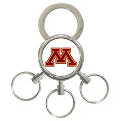 Minnesota Gophers 3-Ring Key Chain by hmpham1