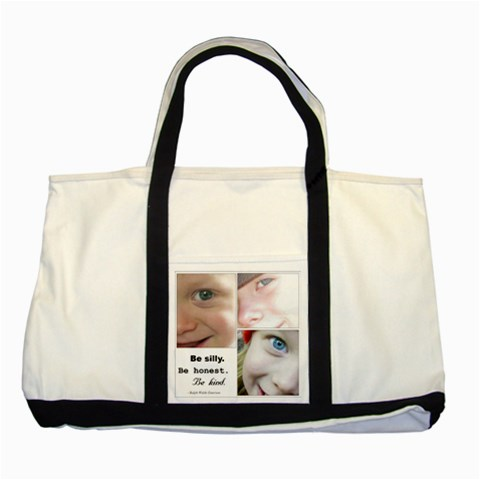 Tote With My Kiddies By Kellie   Two Tone Tote Bag   7j3ekqmkqcuy   Www Artscow Com Front
