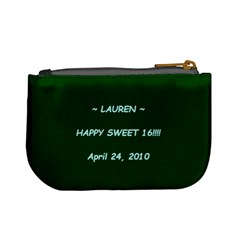 Lauren Sweet 16 By Paulette Dubosky   Mini Coin Purse   Fmc3jl03q9ts   Www Artscow Com Back