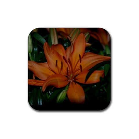 Lily Coaster 04 By Tracy   Rubber Coaster (square)   1fcr08yzkipj   Www Artscow Com Front