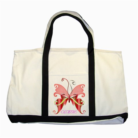 Basic Butterfly Bag By Alana   Two Tone Tote Bag   0ki5p1f7gr6k   Www Artscow Com Front