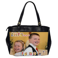 That Was Then     This Is Now! Oversize Bag By Catvinnat   Oversize Office Handbag (2 Sides)   6pceg6ko5l50   Www Artscow Com Back