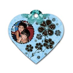 Mom s Id Tag By Ivelyn   Dog Tag Heart (two Sides)   Mfmn4mz0z5sc   Www Artscow Com Front