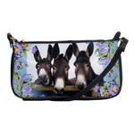 Three donks Shoulder Clutch Bag - blue