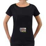 SDC10170 Maternity Black T-Shirt