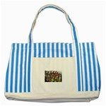 SDC10170 Striped Blue Tote Bag