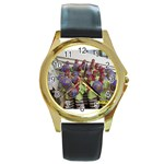 SDC10168 Round Gold Metal Watch