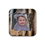 Ethan coaster - Rubber Coaster (Square)