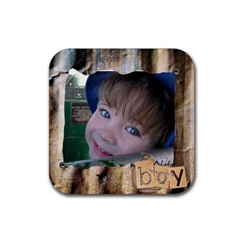 Riley Coaster By Dianne Nicholls   Rubber Coaster (square)   Fxcg5dem4nwm   Www Artscow Com Front