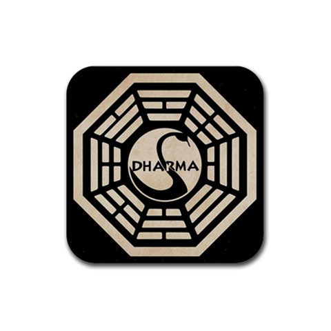 Dharma Posavasos By Jorge   Rubber Coaster (square)   8huddoh3f5lk   Www Artscow Com Front