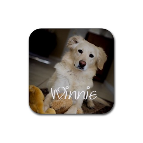 Winnie By Michelle   Rubber Coaster (square)   0hoir5a1m1bx   Www Artscow Com Front