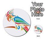 Colorful Parrot Multi-purpose Cards (Round)
