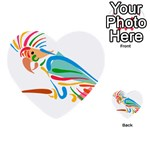 Colorful Parrot Multi-purpose Cards (Heart)