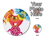 Chinese Rooster Multi-purpose Cards (Round)