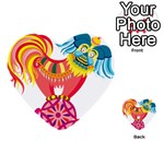 Chinese Rooster Multi-purpose Cards (Heart)