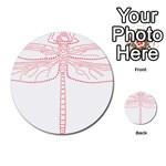 Pink Dragonfly Multi-purpose Cards (Round)
