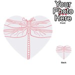 Pink Dragonfly Multi-purpose Cards (Heart)