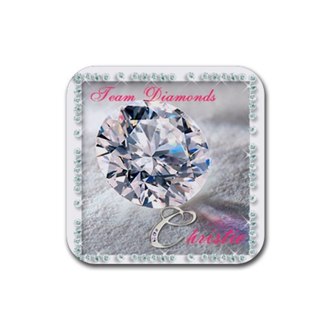 Diamonds 2 By Leonie   Rubber Coaster (square)   Z0sq0r7e1rhk   Www Artscow Com Front