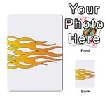 Orange Flame Multi-purpose Cards (Rectangle)