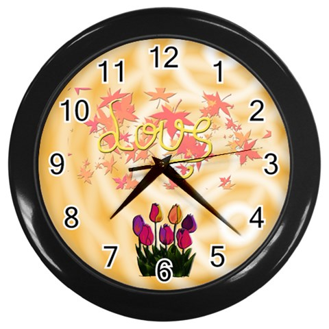 Reloj Love By Lydia   Wall Clock (black)   1p8rdfs6ga2l   Www Artscow Com Front