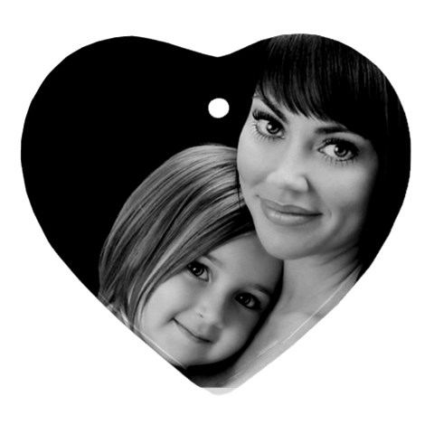 Mom And Daughter By Valeriemarie   Ornament (heart)   De4aovbhcntt   Www Artscow Com Front