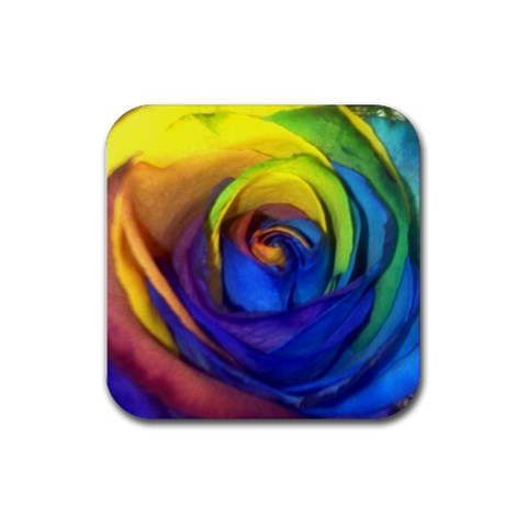 Square Rose Coaster By Ami   Rubber Coaster (square)   Dg9api51h6cm   Www Artscow Com Front