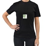 abstract Women s Black T-Shirt (Two Sides)