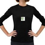 abstract Women s Long Sleeve Dark T-Shirt