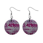 grafitti 1  Button Earrings