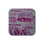 grafitti Rubber Square Coaster (4 pack)