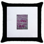 grafitti Throw Pillow Case (Black)
