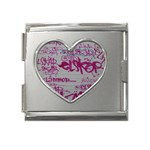 grafitti Mega Link Heart Italian Charm (18mm)