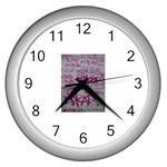 grafitti Wall Clock (Silver)