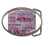 grafitti Belt Buckle