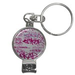 grafitti Nail Clippers Key Chain