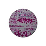 grafitti Rubber Round Coaster (4 pack)