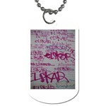 grafitti Dog Tag (Two Sides)