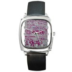 grafitti Square Metal Watch
