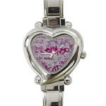 grafitti Heart Italian Charm Watch