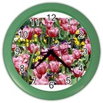 flowers Color Wall Clock