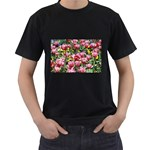 flowers Black T-Shirt