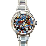 gloss-paint Round Italian Charm Watch
